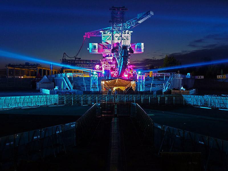 01 Linkin Park Produktion im Ferropolis