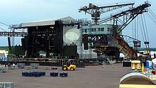 04 Linkin Park Produktion im Ferropolis